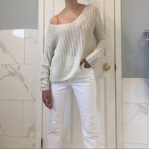 Abercrombie & Finch   Silver Net Sweater